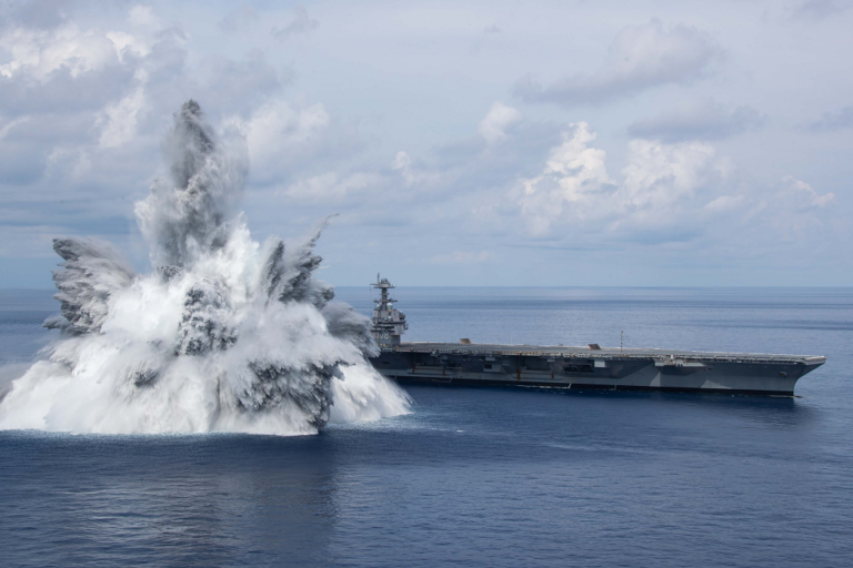 USS Gerald R. Ford completes full ship shock trials