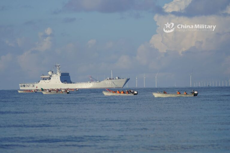 PLA uses large civilian ferry ship for vehicle transport in landing exercise for the first time