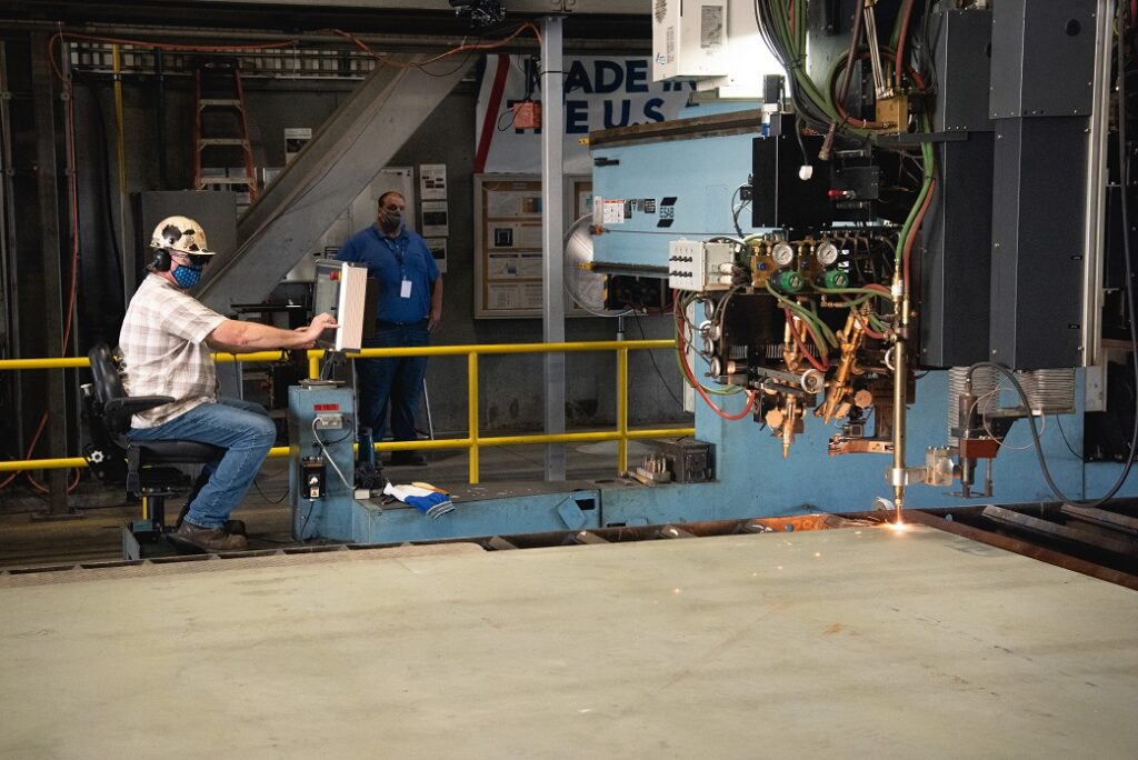 doris miller cut first steel 2 - naval post- naval news and information