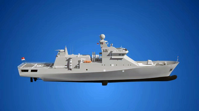 First Steel Cutting Ceremony for Indonesian OPV