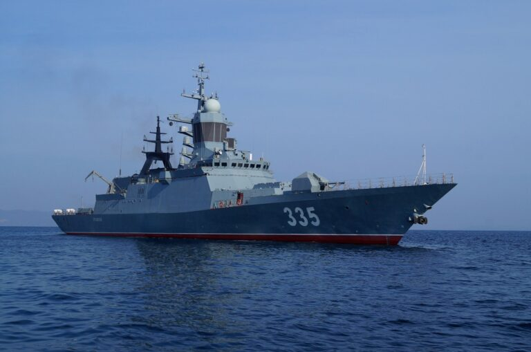 Russian warships conduct live missile firings in the Sea of Japan