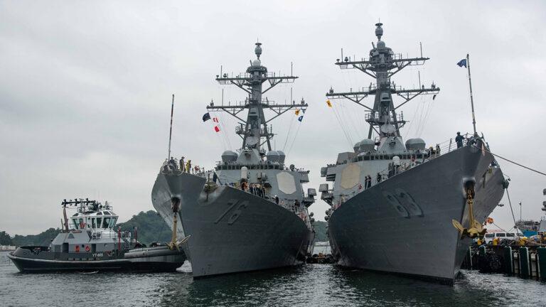 USS Higgins and USS Howard arrive in Japan