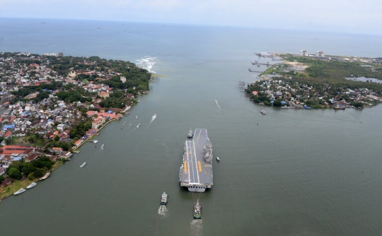 Indian Navy begins the sea trials of Indigenous Aircraft Carrier Vikrant