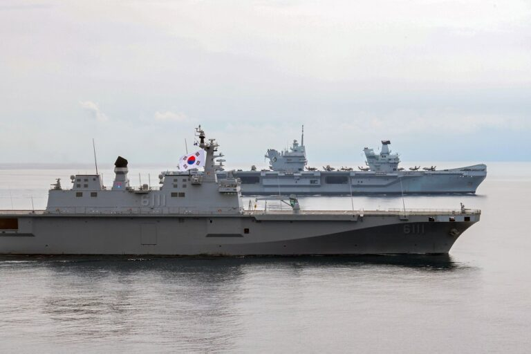HMS Queen Elizabeth Carrier Strike Group completes joint F-35 exercises with ROK Navy
