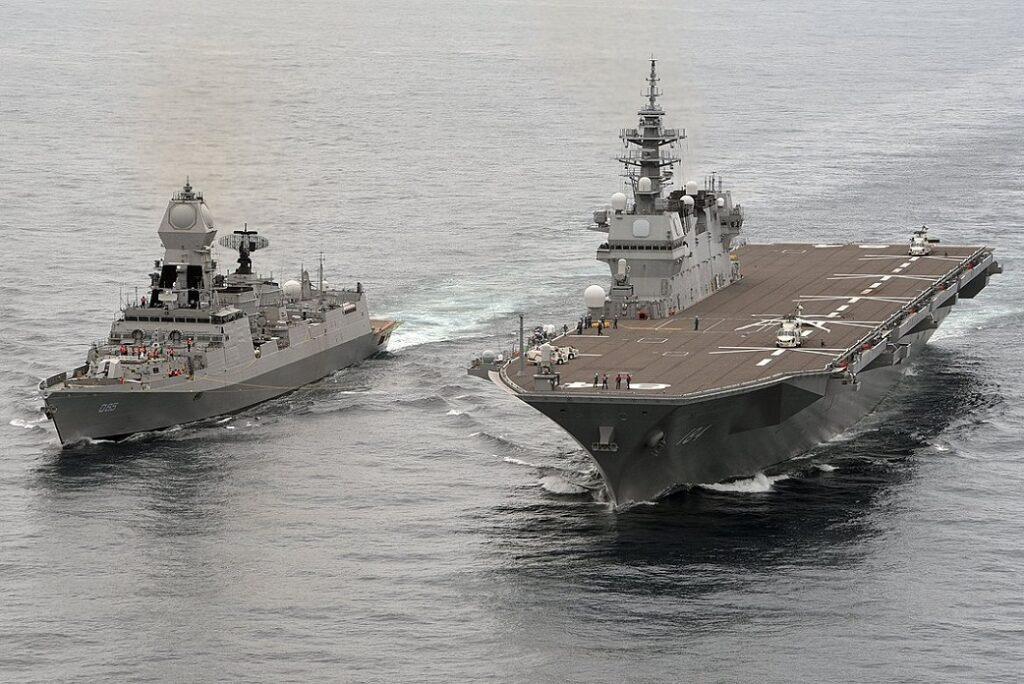ins chennai d65 with jmsdf js kaga during jimex2020 - naval post- naval news and information