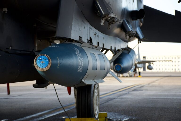 The U.S. Air Force works on sinking warships with only a JDAM