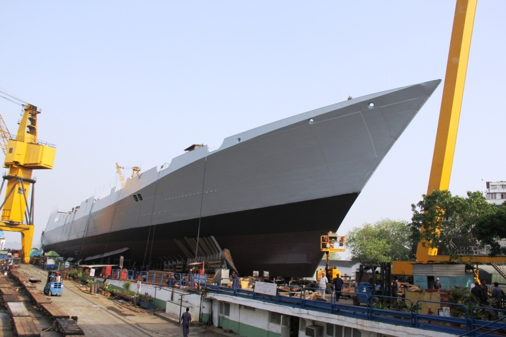 launching of ins visakhapatnam 4 - naval post- naval news and information