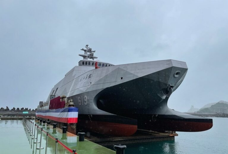The 1st upgraded Tuo Chiang-class corvette enters service for the Taiwanese Navy