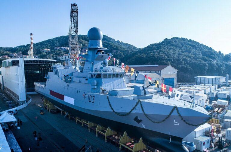 Fincantieri launches 3rd Al Zubarah-class corvette