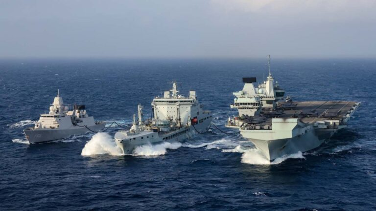 The UK MoD awards a design contract to 4 competitors for Fleet Support Ship