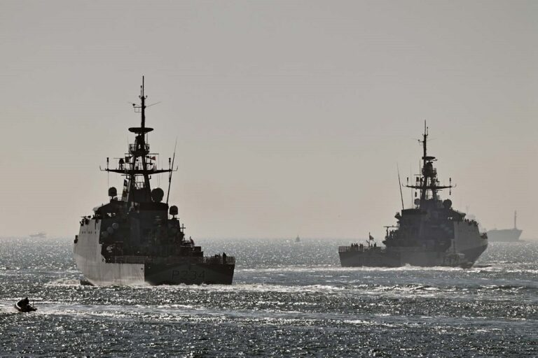Royal Navy OPVs leave Portsmouth for Indo-Pacific deployment
