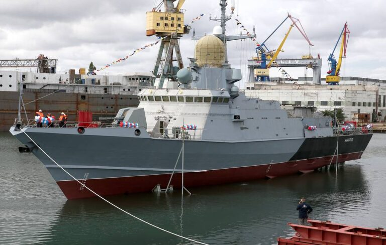 Kerch Shipyard launches 9th Karakurt-class corvette