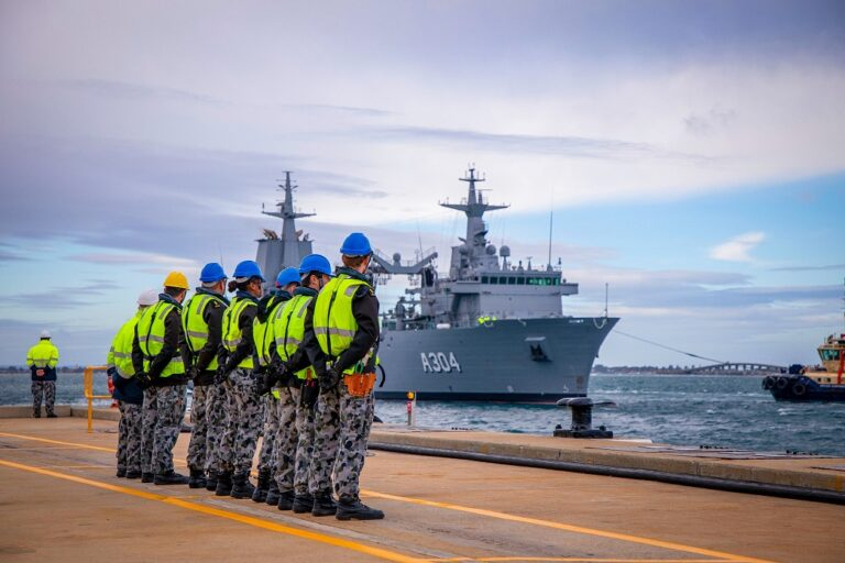 Australia accepts the delivery of the 2nd fleet oiler NUSHIP Stalwart