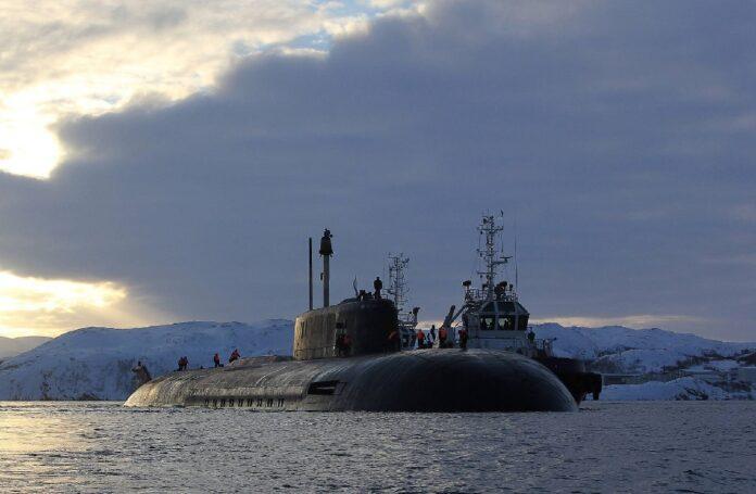 Orel submarine launches Granit missile