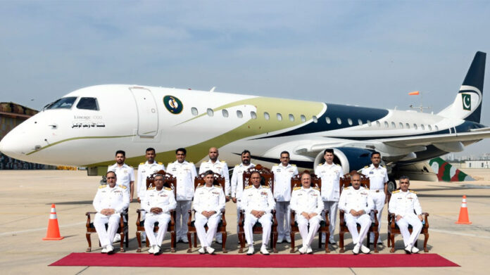 Pakistan Navy has inducted its first modern Long Range Maritime Patrol twin engine jet aircraft.