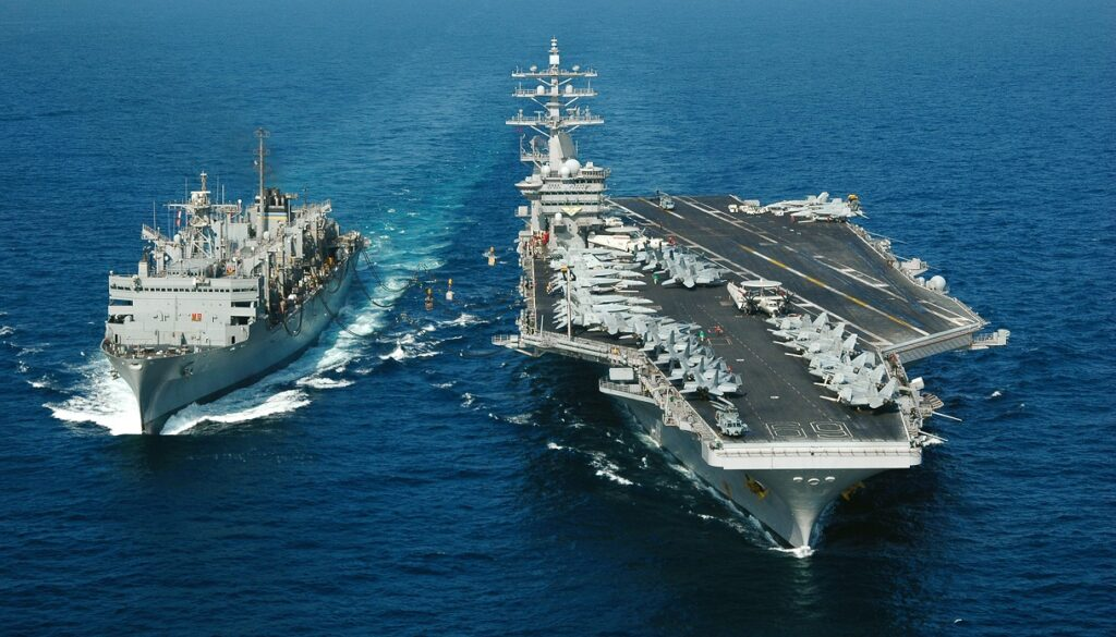 aircraft carrier at underway replenishment - naval post- naval news and information