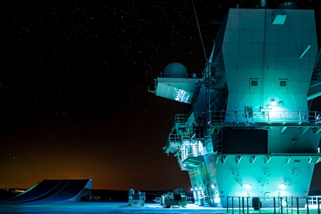 her majesty's starship prince of wales is returning home to hmnb portsmouth (source: royal navy)