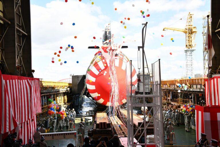 "Kawasaki launches 2nd Taigei-class submarine ""Hakugei"""