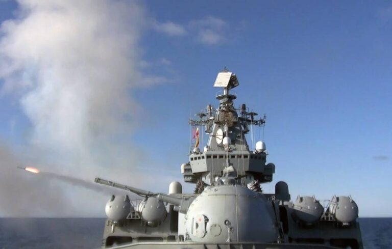 Russian warships hold missile firings in the Sea of Japan